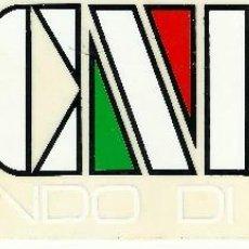 Pegatinas de colección: PEGATINA - TECNICA, UN MONDO DI SPORT - 16X5CM.. Lote 107933183
