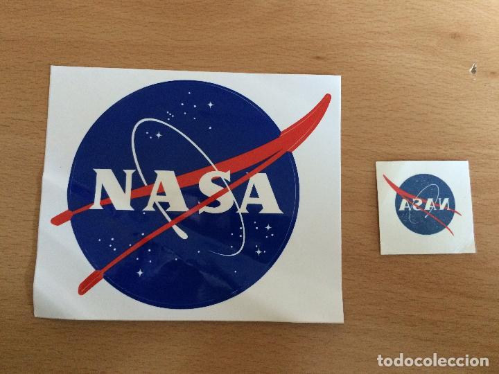 2 PEGATINAS AGENCIA ESPACIAL USA NASA (Coleccionismos - Pegatinas)
