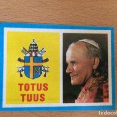Pegatinas de colección: PEGATINA JUAN PABLO II VISITA ESPAÑA. Lote 109247719