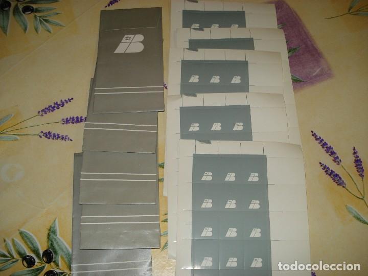 ANTIGUO LOTE DE 5 MINIPLIEGOS CON PEGATINAS DE IBERIA Y CINCO SOBRES (Coleccionismos - Pegatinas)