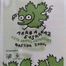 Pegatinas de colección: PEGATINA ARABA EUSKARAZ 2004. Lote 111598283