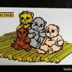 Pegatinas de colección: ANTIGUA PEGATINA DE BABY EWOKS - LUCASFILM 1983 - STAR WARS - ORIGINAL DE EPOCA - 12 X 7,5 CM -. Lote 224144270