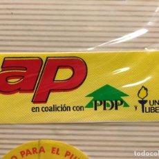 Pegatinas de colección: PEGATINA POLITICA AÑOS 80 VOTA AP. Lote 113024627