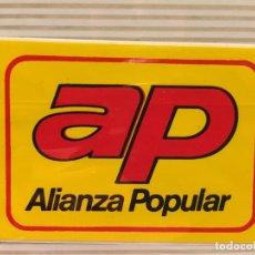 Pegatinas de colección: PEGATINA POLITICA AÑOS 80 VOTA AP. Lote 113024651