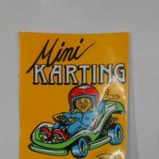 Pegatinas de colección: PEGATINA ADHESIVO MINI KARTING. BARAÑAIN NAVARRA. ESPECTACULOS INFANTILES PISTA LIBRE. TDKP1. Lote 113836531