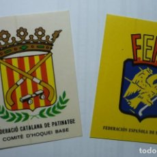 Autocollants de collection: LOTE PEGATINAS HOCKEY PATINES .- FEDERACIONES ESPAÑOLA Y CATALANA. Lote 114834079