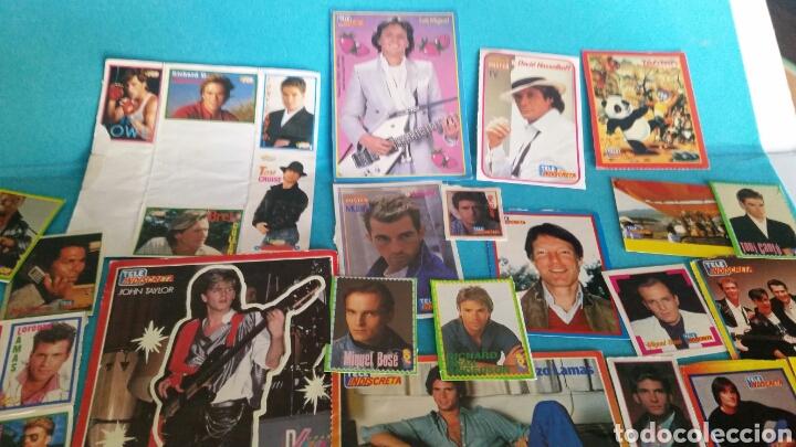 Pegatinas de colección: LOTE PEGATINAS SUPER POP TELE INDISCRETA CANTANTES Y ACTORES - Foto 2 - 246064550