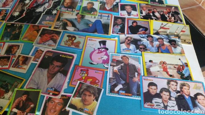 Pegatinas de colección: LOTE PEGATINAS SUPER POP TELE INDISCRETA CANTANTES Y ACTORES - Foto 5 - 246064550