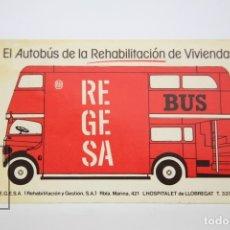Pegatinas de colección: PEGATINA / ADHESIVO PUBLICITARIO - REGESA, EL AUTOBÚS DE LA REHABILITACIÓN DE VIVIENDAS - HOSPITALET. Lote 117197087