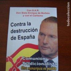 Adesivi di collezione: PEGATINA POLÍTICA CARLISTA. (PEGATINAS POLÍTICAS, CARLISTAS, CARLISMO, REQUETÉ). Lote 195396705