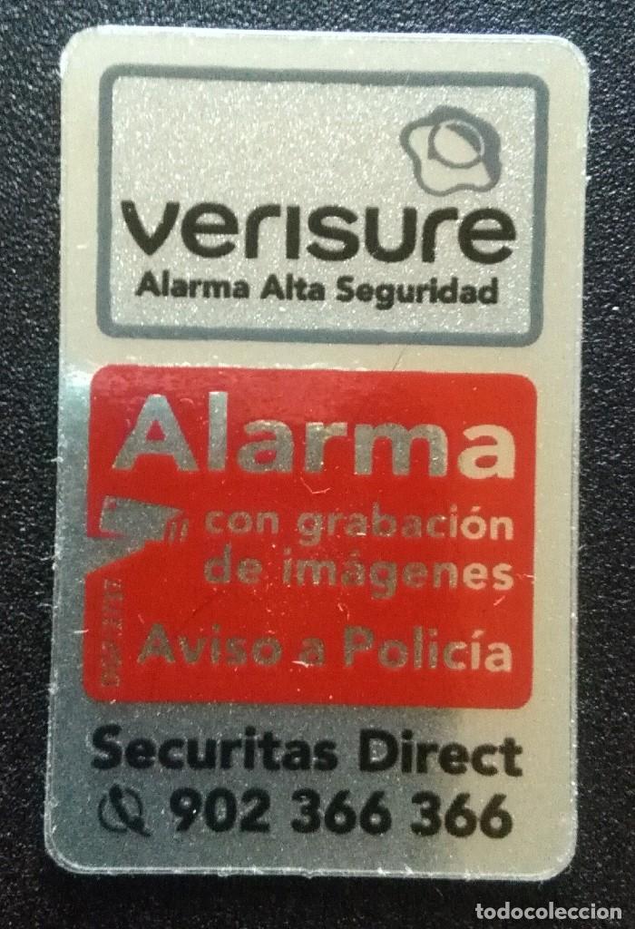 Adhesivo Pegatina Securitas Verisure Moderna Medidas 25cmx4cm