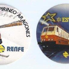 Pegatinas de colección: TREN ESTRELLA - VEN EN TREN AL PIRINEO ARAGONÉS - RENFE. Lote 144093981