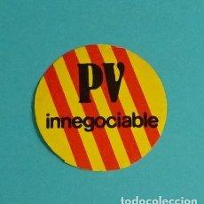 Pegatinas de colección: PEGATINA POLÍTICA PV INNEGOCIABLE. Lote 120103103