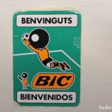 Pegatinas de colección: PEGATINA BIC, BIENVENIDOS, BENVINGUTS, 21X15 CM. Lote 121332775