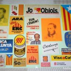 Pegatinas de colección: LOTE Nº 63 *** 20 ADHESIVOS / PEGATINAS POLITICA AÑOS 80 *** A ESTRENAR (SIN PEGAR). Lote 122200007