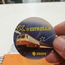 Pegatinas de colección: PEGATINA RENFE ESTRELLA. Lote 122250431