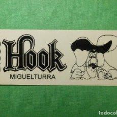Pegatinas de colección: PEGATINA - ADHESIVO - STICKER - DISCO HOOK - MIGUELTURRA, CIUDAD REAL - PUBS DISCOTECAS - 5 X 13 CM. Lote 122718179