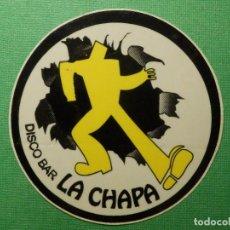 Pegatinas de colección: PEGATINA - ADHESIVO - STICKER - DISCO BAR LA CHAPA - CIUDAD REAL - PUBS DISCOTECAS - 8 CM. Lote 122719231