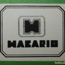 Pegatinas de colección: PEGATINA - ADHESIVO - STICKER - MAKARIO - CIUDAD REAL - PUBS DISCOTECAS - 8 X 10 CM. Lote 122719775