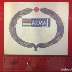 Pegatinas de colección: ADHESIVO VINTAGE,ORIGINAL DE EPOCA (ADHESIVO PARA CRISTAL/INTERIOR). Lote 122945243