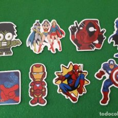 Pegatinas de colección: PEGATINAS / STICKER MARVEL IMPERMEABLE PERSONALIZAR LAPTOP, MONOPATIN, MOVIL, FUNDA, PORTATIL, PC. Lote 124627363