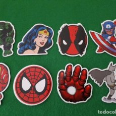 Pegatinas de colección: PEGATINAS / STICKER MARVEL IMPERMEABLE PERSONALIZAR LAPTOP, MONOPATIN, MOVIL, FUNDA, PORTATIL, PC. Lote 124628455