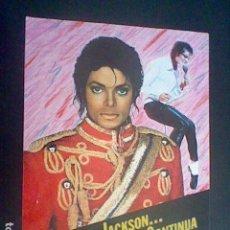 Pegatinas de colección: MICHAEL JACKSON LA LEYENDA CONTINUA STICKER PEGATINA ADHESIVO SIN PEGAR NUNCA. Lote 126546207