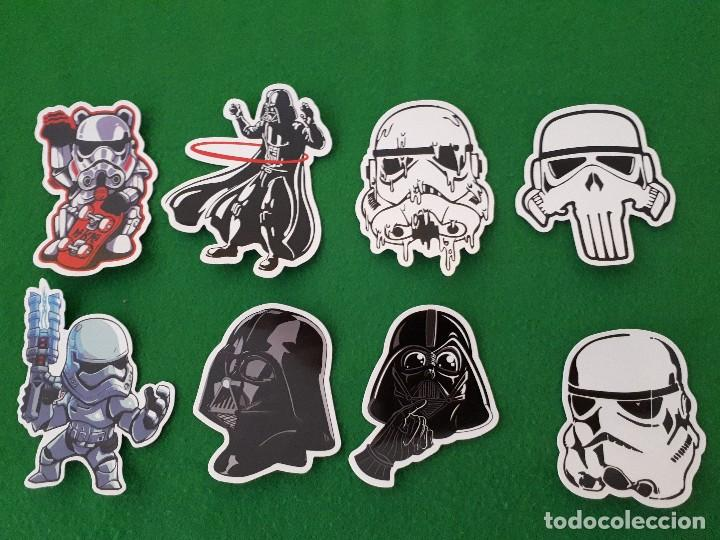 PEGATINAS / STICKER STAR WARS IMPERMEABLE PERSONALIZAR LAPTOP, MONOPATIN, MOVIL, FUNDA, PORTATIL, PC (Coleccionismos - Pegatinas)