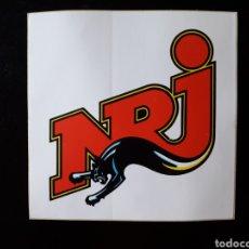 Pegatinas de colección: PEGATINA TEMA RADIO. NRJ. FRANCIA. AÑOS 80 Y 90.. Lote 127175604