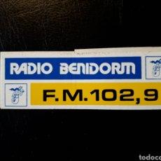 Pegatinas de colección: PEGATINA RADIO BENIDORM. AÑOS 80 Y 90.. Lote 127469786