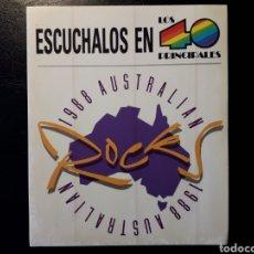 Pegatinas de colección: PEGATINA DE PROMOCIÓN DEL ROCK AUSTRALIANO EN LOS 40 PRINCIPALES. 1988. RADIO.. Lote 127966079