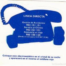 Pegatinas de colección: PEGATINA. 'TELÉFONOS DE ASISTENCIA' LINEA DIRECTA. (TAMAÑO 8.9 * 8.7 CMS.). Lote 96743527