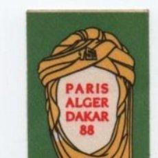 Pegatinas de colección: (ALB-TC-1) PEGATINA PARIS ALGER DAKAR 88 DIFICIL. Lote 130668008