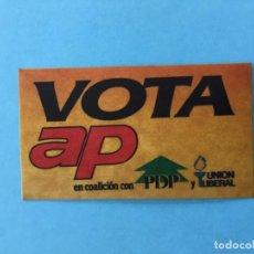 Pegatinas de colección: PEGATINA TRANSICIÓN ESPAÑOLA - VOTA AP LEY039. Lote 131236079
