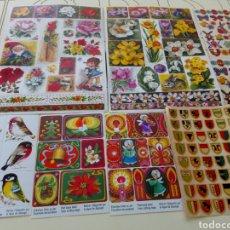 Pegatinas de colección: LOTE DE PEGATINAS MUY ANTIGUAS SIN USO. Lote 131292964