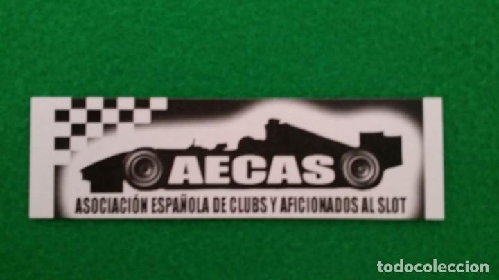 PEGATINA AECAS – ASOCIACION ESPAÑOLA DE CLUBS Y AFICIONADOS AL SLOT (Coleccionismos - Pegatinas)