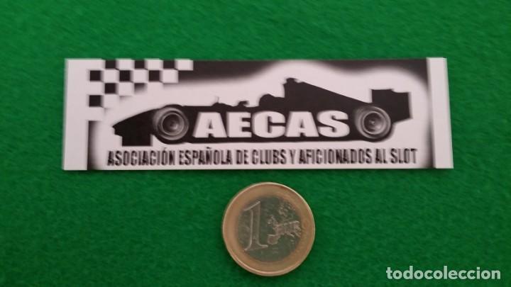 Pegatinas de colección: Pegatina Aecas – Asociacion Española de Clubs y Aficionados al Slot - Foto 2 - 131552054