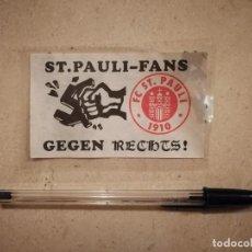Pegatinas de colección: PEGATINA ORIGINAL - FC ST. PAULI - ULTRAS - FUTBOL - ALEMANIA. Lote 132046222