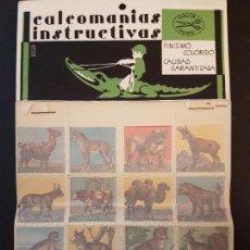 Pegatinas de colección: CALCOMANIAS INSTRUCTIVAS TIRA. Lote 132766006