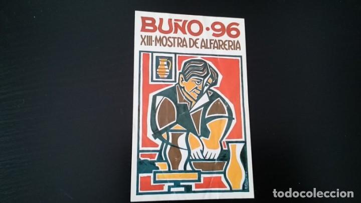 PEGATINA BUÑO 96 CORUÑA XIII MOSTRA DE ALFARERÍA - MEDIDAS 13 X 8 (Coleccionismos - Pegatinas)