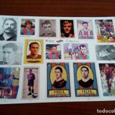 Pegatinas de colección: LÁMINA DE PEGATINAS DEL F. C. BARCELONA. Lote 133480838