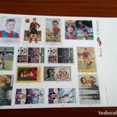Pegatinas de colección: LÁMINA DE PEGATINAS DEL F. C. BARCELONA. Lote 133481210