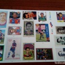 Pegatinas de colección: LÁMINA DE PEGATINAS DEL F. C. BARCELONA. Lote 133481586