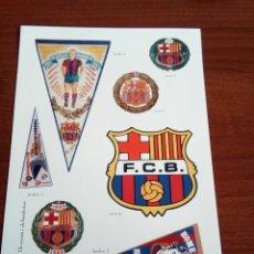 Pegatinas de colección: LÁMINA DE PEGATINAS DEL F. C. BARCELONA. Lote 133482378