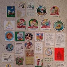Pegatinas de colección: LOTE 45 PEGATINAS RELIGIOSAS AÑOS 80 DOMUND CARITAS SALLE SCOUTS. Lote 133603246