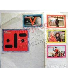 Pegatinas de colección: LOTE PEGATINAS DE V SERIE TELEVISIÓN AÑOS 80 TELE INDISCRETA - SÍMBOLO PEGATINA NAVES DONOVAN DIANA. Lote 133885458