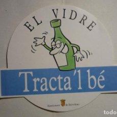 Pegatinas de colección: PEGATINAAYUNTAMIENTO BARCELONA-RECICLAR EL CRISTAL. Lote 133897170