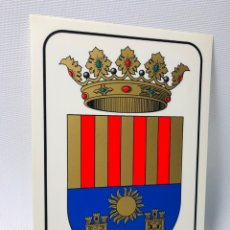 Pegatinas de colección: ETIQUETA ADHESIVA ·· ESCUDO DE CREVILLENTE ·· ALICANTE ·· 17 X 12 CMS. Lote 137343762