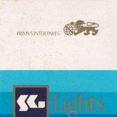 Pegatinas de colección: PEGATINA SG LIGHTS. TABACO. CIGARRILLOS. Lote 137861422