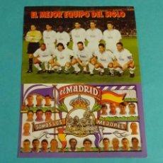 Pegatinas de colección: PEGATINA REAL MADRID. FORMATO 11 X 15 CM. Lote 214380731